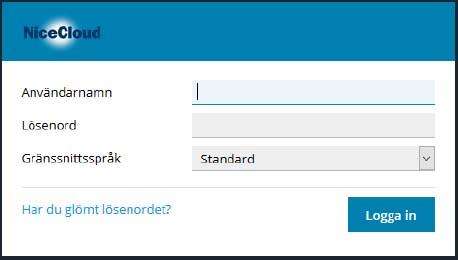 Logga in på kontrollpanelenmed ditt användarnamn och lösenord, som du fått från oss.
